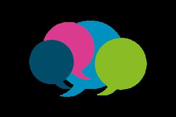 Speech bubbles multi-coloured