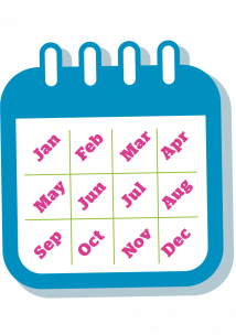 Calendar grahic showing the months of the year